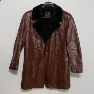 Leather vintage Startown mens coat 42 Reg. Nice!!!